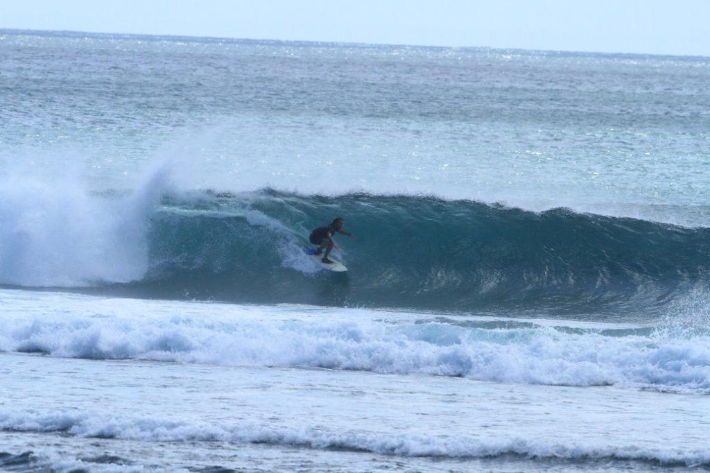 Barreled in Balangan Beach, Bali.